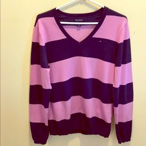 Striped Navy Blue and Pink Sweater
